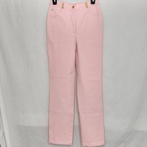 St. John Sport 2 Pink Gold Button Trouser Pants